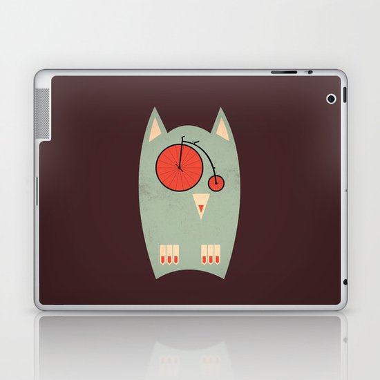 Vintage Bikeowl Laptop & iPad Skin