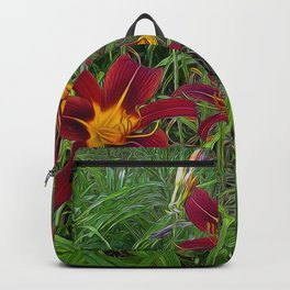 Tiger Lily Garden Backpack