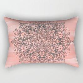 Coral Mandala Rectangular Pillow