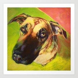 This Dog Didn't Mean It. Art Print