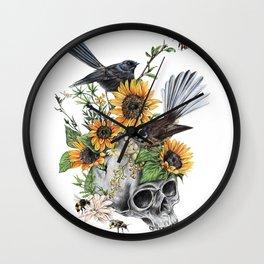 Two Piwakawakas Wall Clock