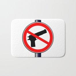 No Guns Alowed Bath Mat