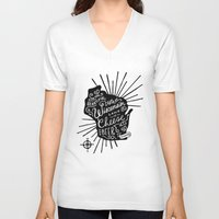 wisconsin V-neck T-shirts featuring Wisconsin Pride by Jessica Roush