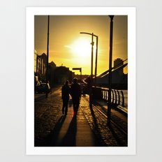 Couple's walk Art Print