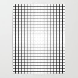 Black and White Grid Graph Poster