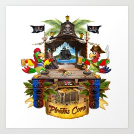 Pirates Cove Art Print