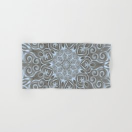 Light Blue Center Swirl Mandala Hand & Bath Towel