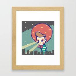 Girl games Framed Art Print