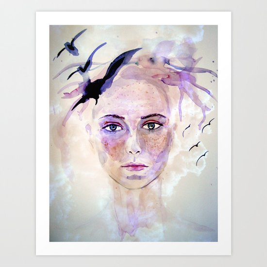 self portrait Art Print