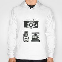 cameras Hoodies featuring Three cameras. by WEUSEDTODANCE