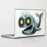 the whale Laptop & iPad Skins featuring Whale by Riccardo Pertici