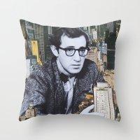 manhattan Throw Pillows featuring Manhattan by John Turck