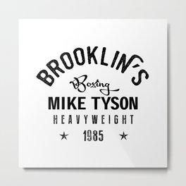 Iron Mike Tyson Metal Print