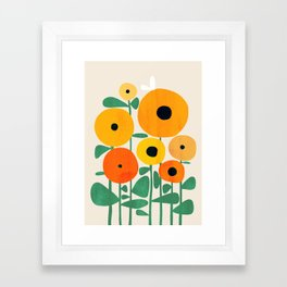 Sunflower and Bee Gerahmter Kunstdruck