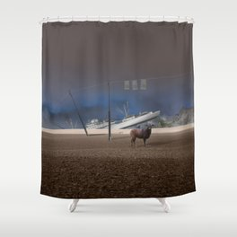 atmosphere · stupidity Shower Curtain