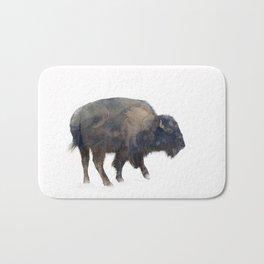Where the Buffalo Roam Bath Mat