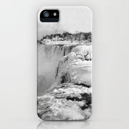 Niagara Falls Frozen In Winter - 1898 iPhone Case