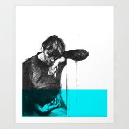 in the ocean  Art Print
