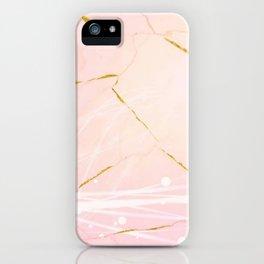 Rose Gold Marble Burst iPhone Case