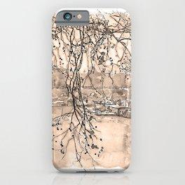 Rome, River Tevere - Watercolor iPhone Case