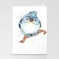 baby Stationery Cards featuring Baby titmouse by Patrizia Ambrosini
