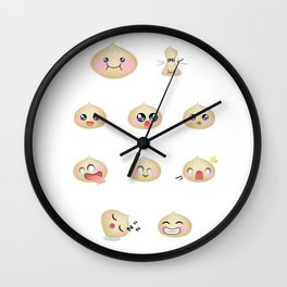 Dumpling Faces Wall Clock