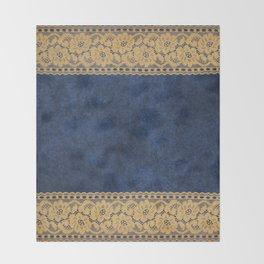 Blue Lace Velvet 05 Throw Blanket