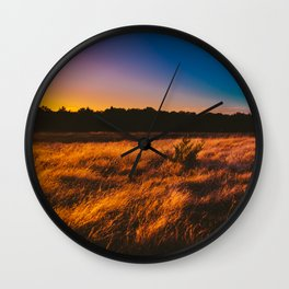 Rainbow Sky Wall Clock