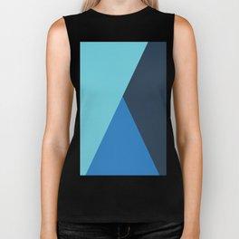 Elegant geometric design in blue Biker Tank