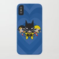 powerpuff girls iPhone & iPod Cases featuring Supertough Girls by Mandrie