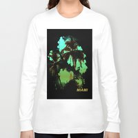 miami Long Sleeve T-shirts featuring MIAMI by rauldesigns