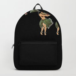 Beautiful Hula Girl Dancing the Hula BLK Backpack