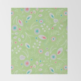 Lacey Flowers Throw Blanket