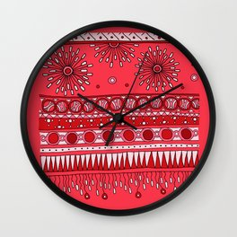 Yzor pattern 007-3 pink Wall Clock