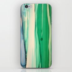 Green and White iPhone & iPod Skin