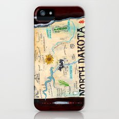 NORTH DAKOTA iPhone (5, 5s) Slim Case