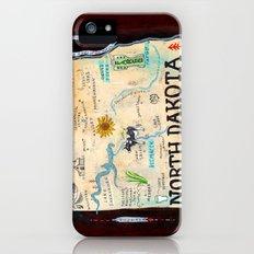 NORTH DAKOTA iPhone (5, 5s) Slim Case