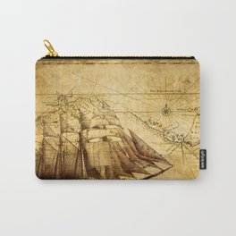 Old Map Carry-All Pouch