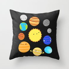 The Solar System Throw Pillow