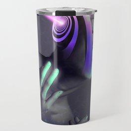 Futuristic Woman Spiral Travel Mug