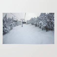 Skiing Vermont Rug