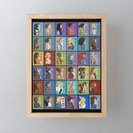 She Series Collage 1-4 Framed Mini Art Print