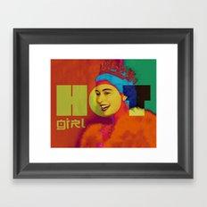 Hot Girl Hot Queen Framed Art Print