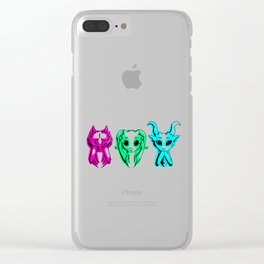 See, Hear, Speak Clear iPhone Case