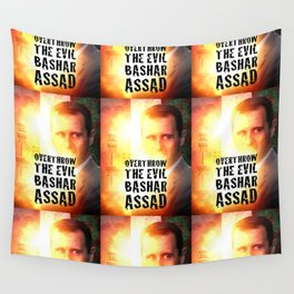 Bashar Assad Is Evil Wall Tapestry