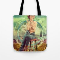 cigarette Tote Bags featuring Cigarette Break by Ryan Haran