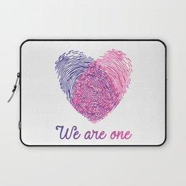 We are one - Valentine love Laptop Sleeve