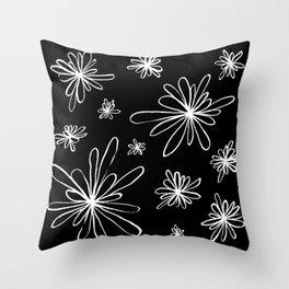 Energy Flowers Reverse Throw Pillow
