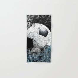 Modern soccer version 1 Hand & Bath Towel