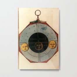 Peter Apian - Astronomicum Caesareum 1540 - Illustration of the Total Lunar Eclipse, October 6 1550 Metal Print